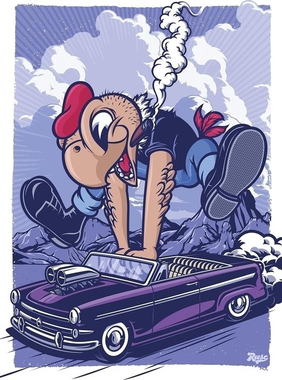 Condorito Poster - illustration - rusc | ello