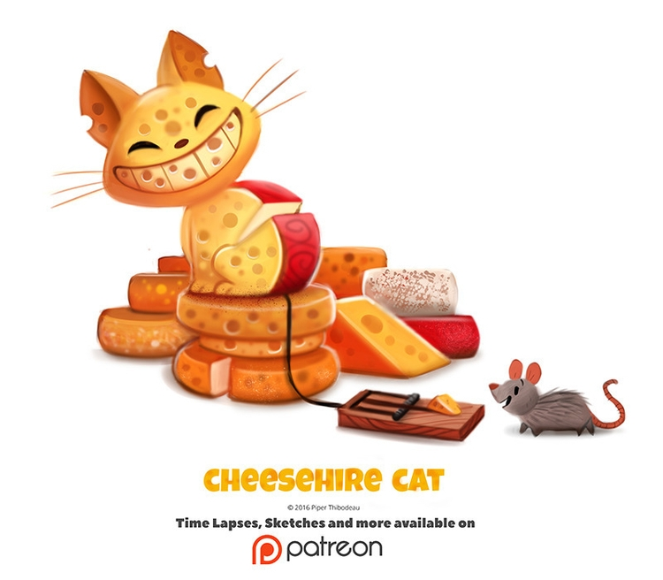 Daily 1353. Cheeshire Cat - piperthibodeau | ello