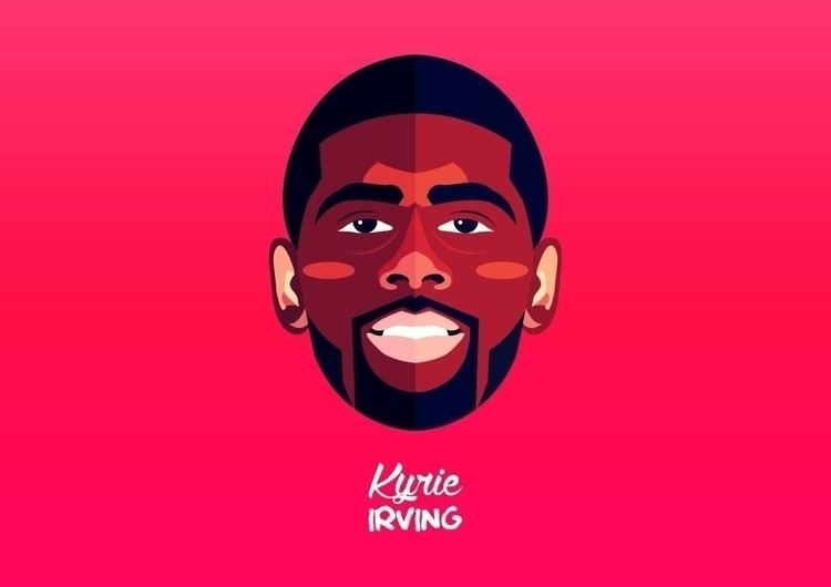 kyrie Irving - illustration, characterdesign - dnscr | ello