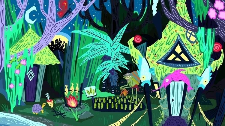 Swamp House - illustration, conceptart - chantalrae-8248 | ello
