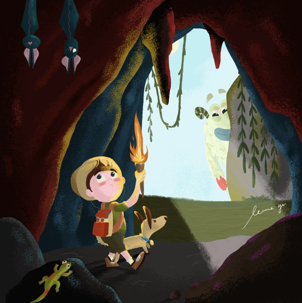 Enchanted Cave - digitalart, digitalillustration - leannepet | ello