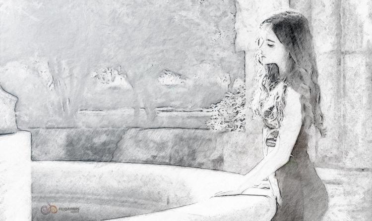 fountain sighs - photography, painting - filigranasdigitales | ello