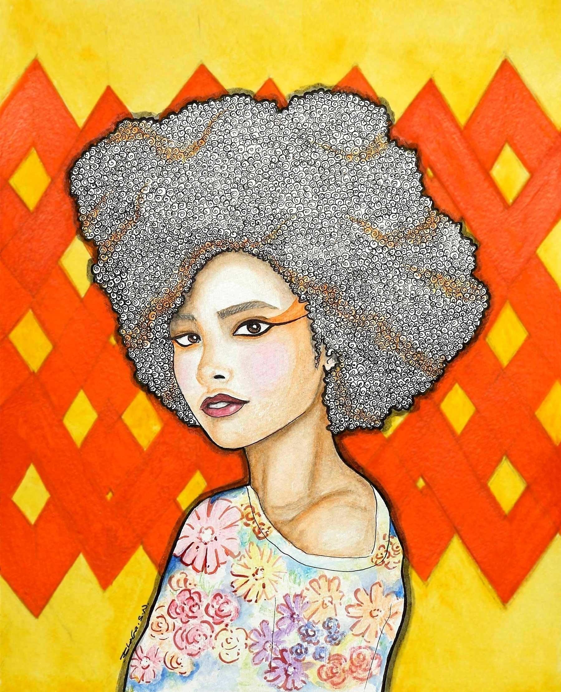 Ginger - lady, illustration, patterns - bhavanasn | ello