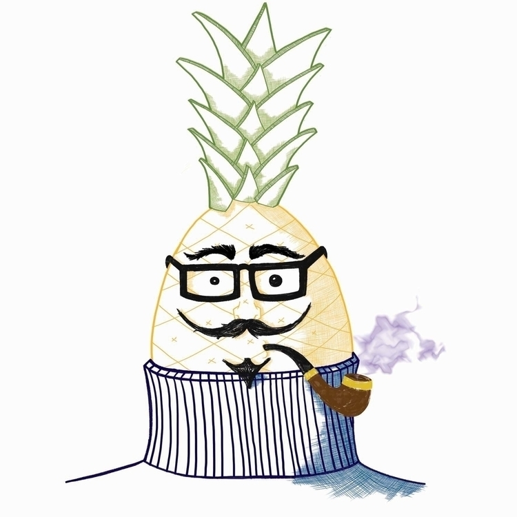 Existentialist Pineapple - illustration - mp-1845 | ello