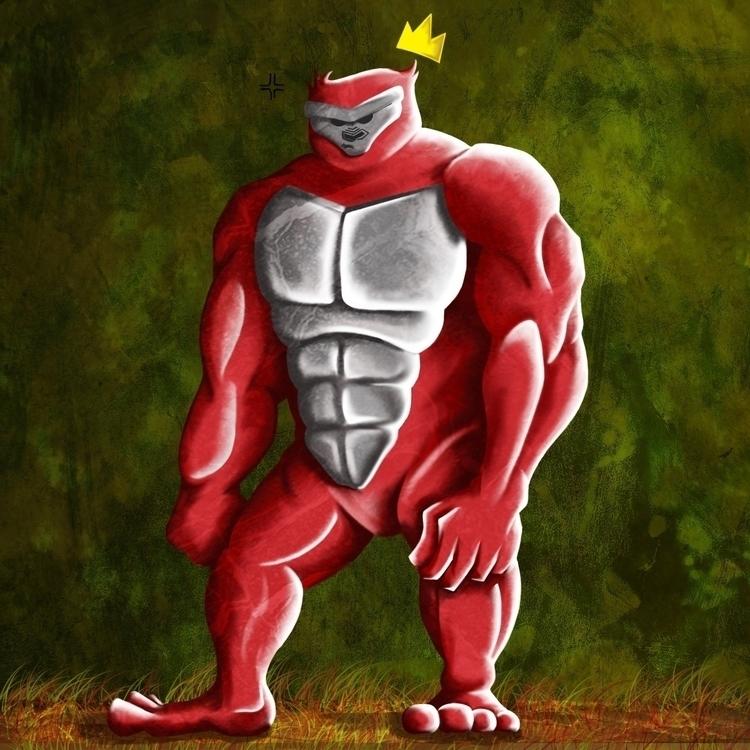 Radioactive Ape - illustration, characterdesign - mp-1845 | ello