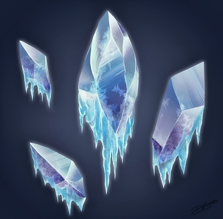 Icy Crystals MagiQuest - gameart - sketchingsands | ello