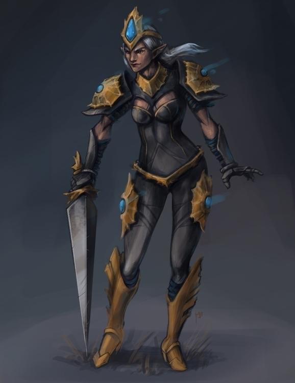Elven - illustration, characterdesign - tieller | ello