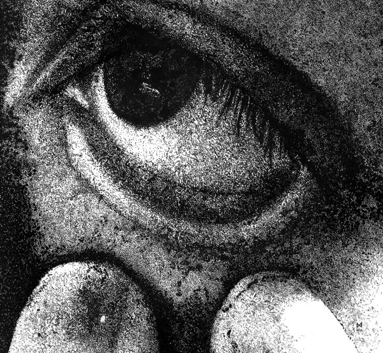 portrait. 15X15cm. Black fineli - audreylee | ello