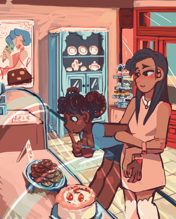 Lovey-dovey sweet shop wip - illustration - tartfolio   ello