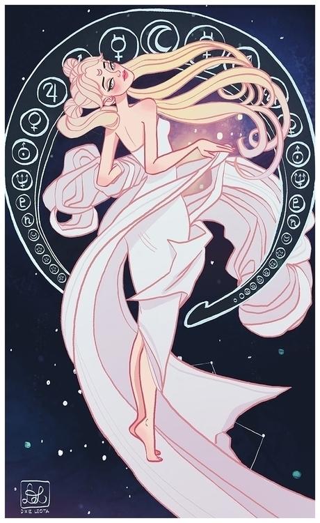 Sailor Moon - illustration, dixieleota - dixieleota | ello