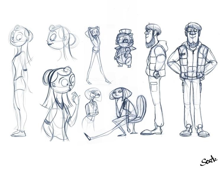 Character Sketches - characterdesign - sophiecortez | ello
