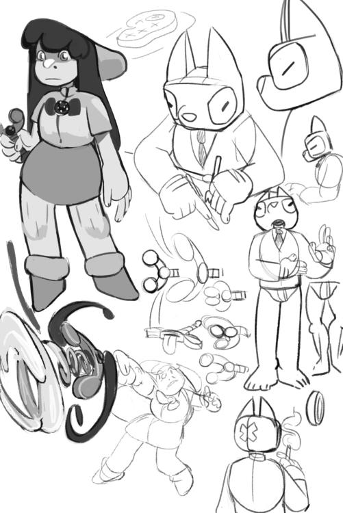 fleshing thesis characters - characterdesign - tartfolio   ello