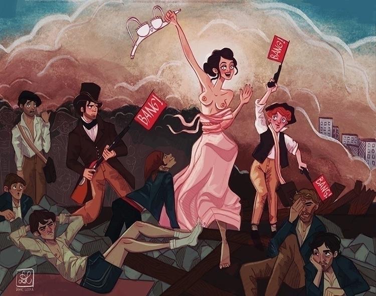 Liberty Leading People - illustration - dixieleota | ello