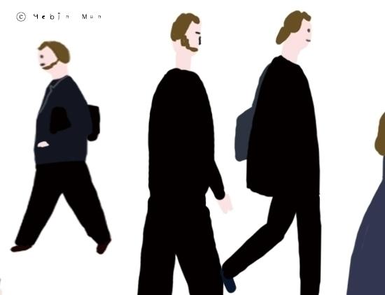 worker - illustration, painting - yebin | ello