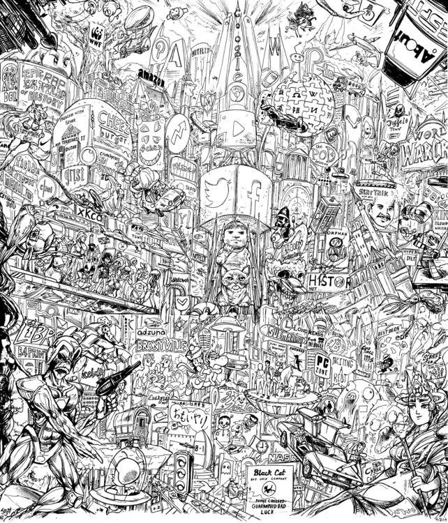 llustration splash page Comic p - jowybeanstudios | ello