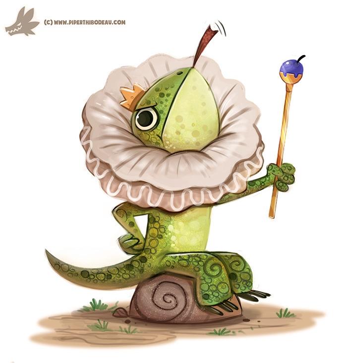 Daily Paint Frilled Lizard - 1177. - piperthibodeau | ello