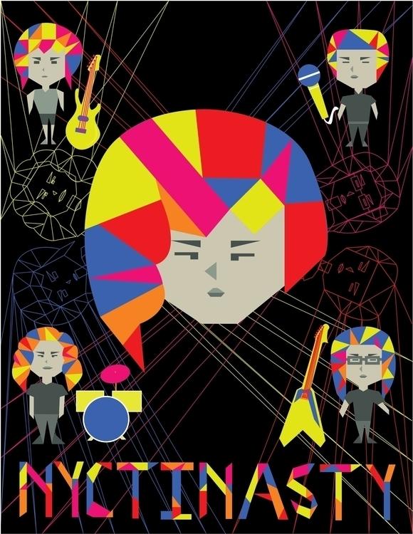 Nyctinasty Band - illustration, characterdesign - karylnerona | ello