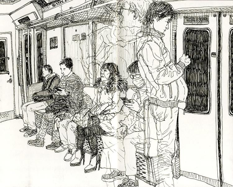 Tokyo - croquis, sketchbook, lineart - kshin   ello