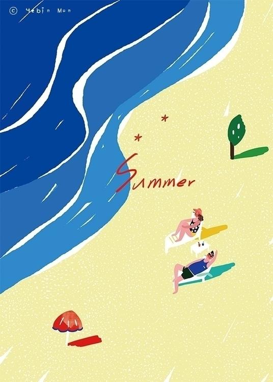 Summer Time - illustration, conceptart - yebin | ello