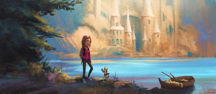 commission piece  - fairytales, girl - zacretz | ello