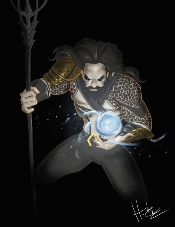 Aquaman waterbending - fanart, illustration - hasaniwalker   ello