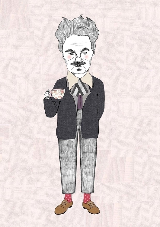 August Strindberg, playwright n - danisdrawings | ello