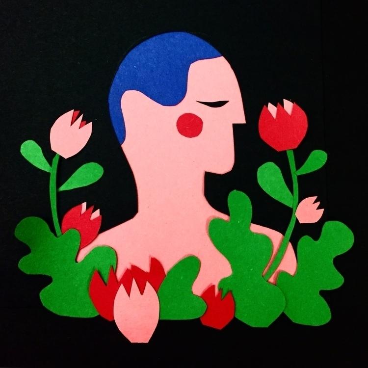 papercut, papercut, boy, flowers - stephaniekubo-8873 | ello