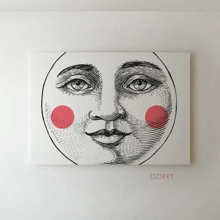 Moon Face - moon, face, portrait - zizilka | ello