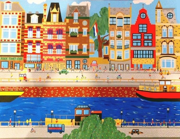 Amsterdam - amsterdam, acrylic, painting - mohanballard   ello