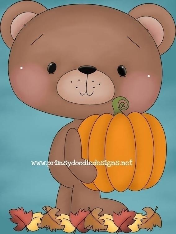 Fall Bear - illustration - lisacraig | ello