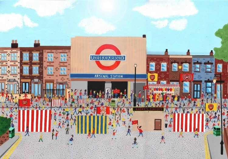 Arsenal Station Match Day - arsenal - mohanballard | ello