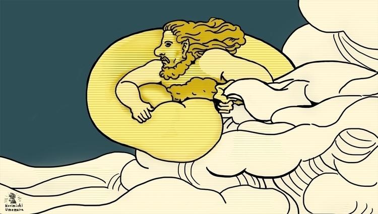Wind_God - wind, illustration, graphic - norimichi_umemura | ello