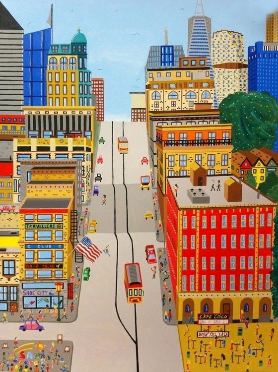San Francisco - sanfrancisco, painting - mohanballard | ello