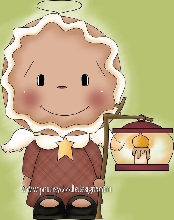 Gingerbread Angel - illustration - lisacraig   ello
