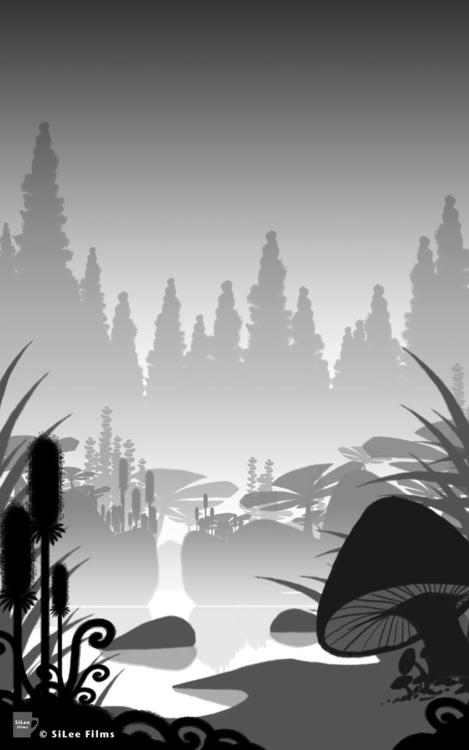 Swamp' Digital Background Paint - silee-1448 | ello