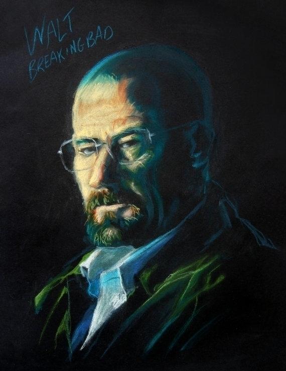 Pastel Portrait character Walt  - sillustrations | ello