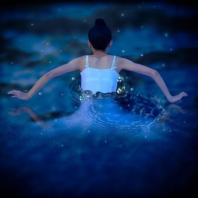 Blue Swan - surreal, surrealism - nersoya | ello