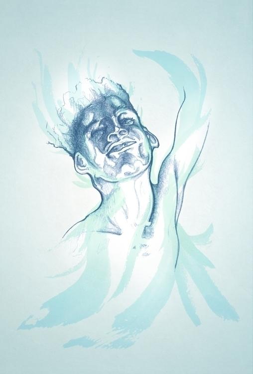 Flow - illustration, pencil, watercolor - tommcclean | ello