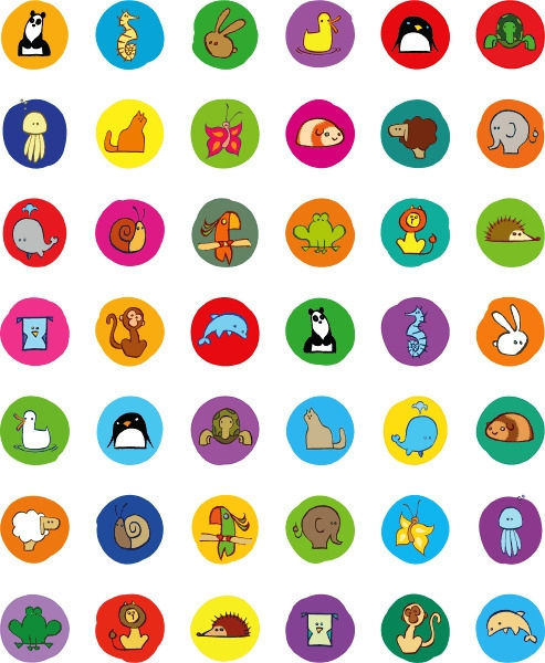 Animal icons - simple, cute, animals - jurjenkraan | ello