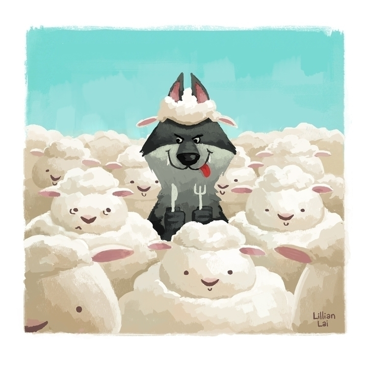 chinesenewyear, sheep - lillisketch | ello