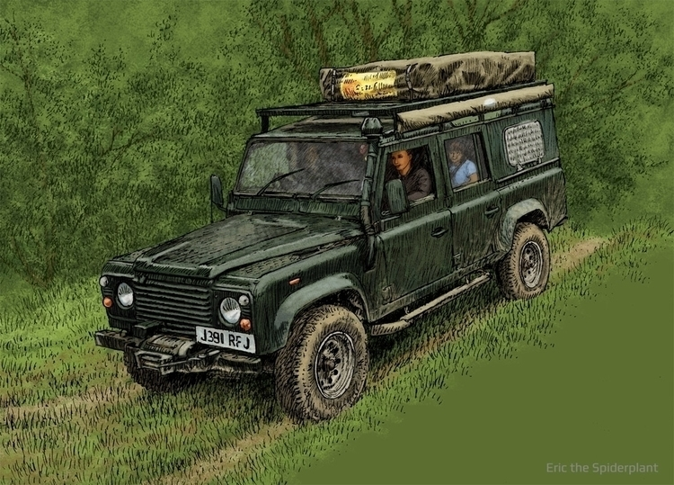 Land Rover Billing - illustration - dannybriggs | ello