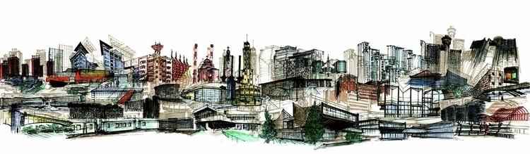 novibeograd, concept, draw, watercolour - mirjanaantonijevic | ello
