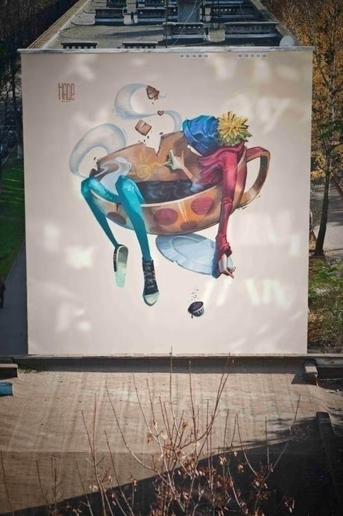 aleksandrhade, art, hade, streetart - aleksandrhade | ello