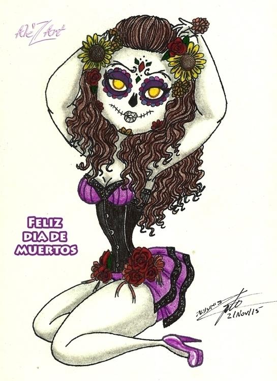 Dia de Muertos - dayofthedead,diadelosmuertos,calaveras,makeup,sugarskull,halloween,seasonal,holiday,fall - alezart | ello