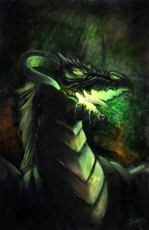 Black Venom Dragon 2014 - dragon - wolfypaints | ello