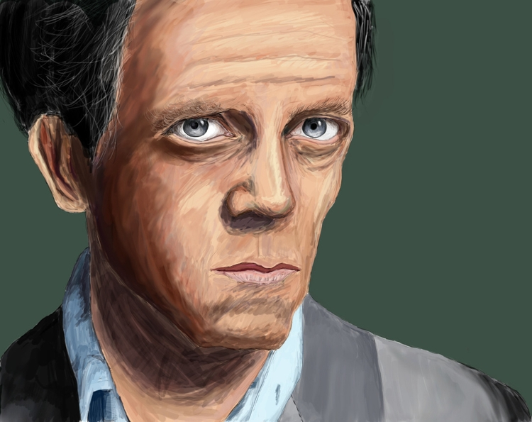 Dr. House digital painting - digitalpainting - carissarenard | ello