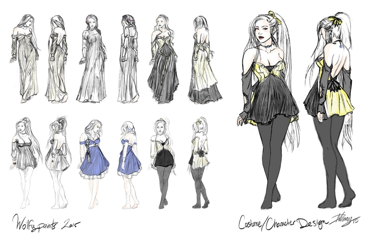 Costume Character Design Worksh - wolfypaints | ello
