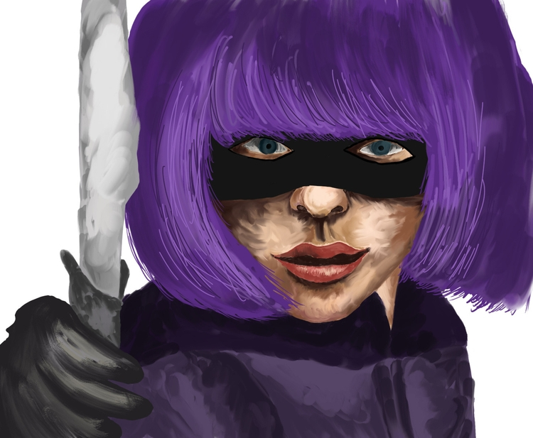 Hit Girl - hitgirl, kickass, digitalpainting - carissarenard | ello