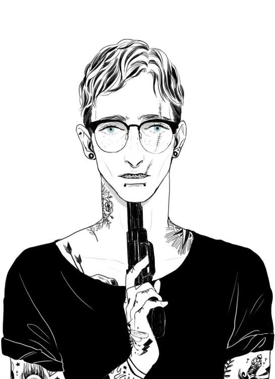 illustration, tattoo, digitalart - mioim | ello