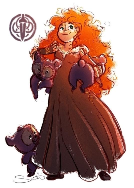 merida, disney, princess - samanthadoodles   ello